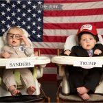 Baby Sanders and Baby Trump . Twin Halloween Costumes